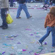 Mardi Gras debris
