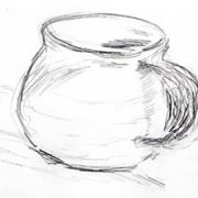 Drawing of coffee mug