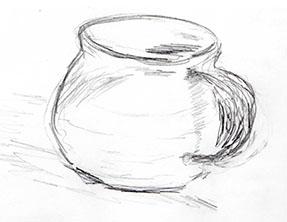 Drawing of coffee mug