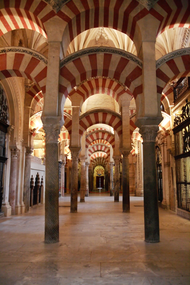 Pillars and arches of Cordoba Mosque
